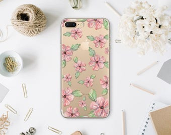 IPhone 7 Case iPhone 6 Plus iPhone 6S Plus iPhone X Clear Case iPhone 8 Case 6 iPhone Clear Flowers Case Phone Cover For S7 Edge WA1135