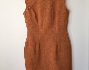 Vintage Orange 1950s Cheongsam Dress