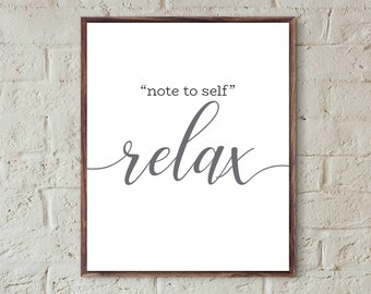 relax print relax sign bathroom wall art grey bedroom quotes print farmhouse bathroom printable office desk relax gift decor bathroom sign