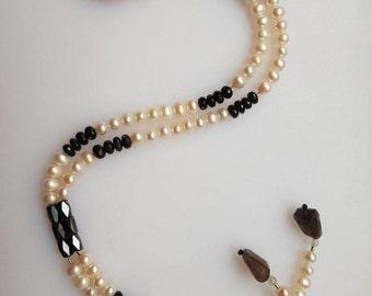 Mama Necklace-Beads, spinel & labradorite