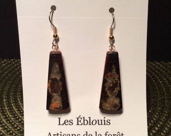 Exclusive earrings Wild wood from Quebec