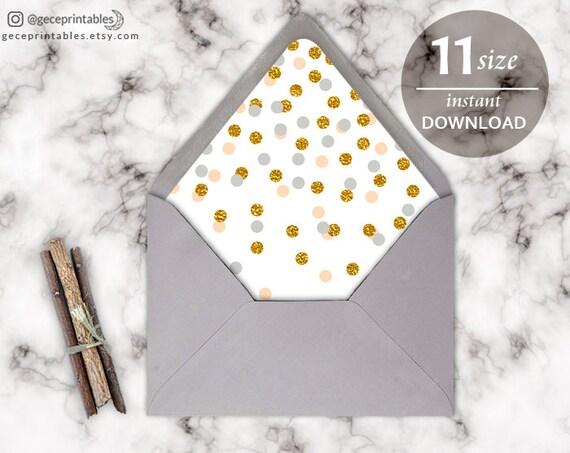 confetti envelope liner template printable envelope template diy