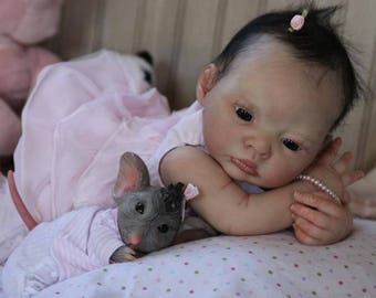 Reborn Mouse Awake AND Mouse Mascot by Sylvia Manning Set of Two. Rare Limited Edition. Girl Boy Baby Doll. Down Payment Options.  JULY 2018
