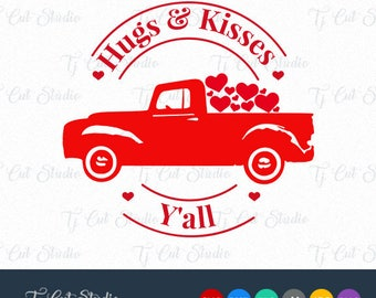 Hugs and Kisses SVG, Hugs and Kisses, Hugs Kisses,Valentine SVG, Svg Files for Silhouette Cameo or Cricut Commercial & Personal Use.