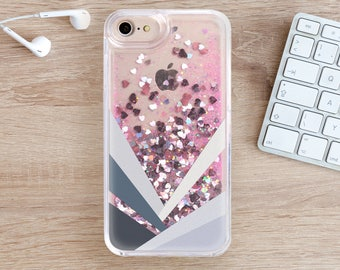 Geometry Glitter iPhone 8 Case iPhone 7 Case iPhone 8 Plus iPhone 6S Case 7 Plus iPhone 5 Case iPhone Phone Cover iPhone 6 Case SE YZ1104