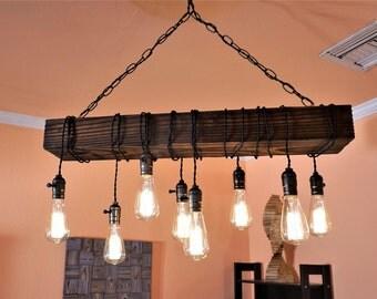 Rustic Wood Chandeliers farmhouse chandelier | etsy