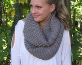 Chunky Infinity Scarf- Hand Knitted