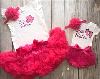 Matching Big Sister Little Sister Outfits - Sister Outfits in Fuchsia - Sibling Outfits - Big Sis Little Sis