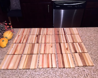 Reclaimed Wood Coaster Set - Handmade / Rustic / Pallet Wood / End Grain / Salvaged Wood / Wedding Coasters / Wedding Gifts / Made to Order