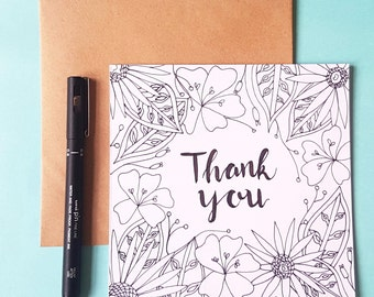 Greetings Card - Thank you card