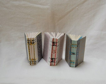 A6 Exposed Spine Coptic binding Notebook Journal Diary