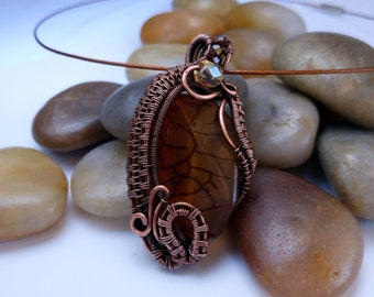 Wire Wrap Copper Pendant