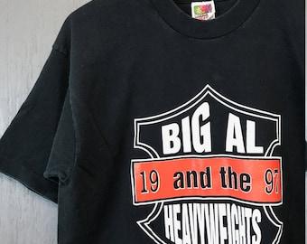M/L * Vintage 90s 1997 Big Al and the Heavyweights no wimps Blues t shirt
