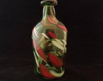Clear Green Bottle