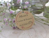 Customizable - Lot pricing - model wedding labels journey - lozenge guest gift.