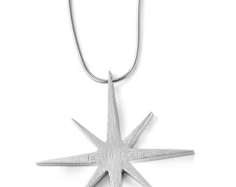 BE THE LIGHT Pendant with chain 925 Sterling Silver
