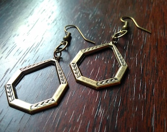 Antique frame earrings