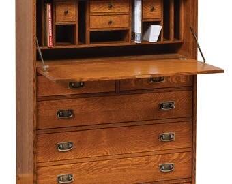 Quartersawn White Oak Mission Style Century Desk