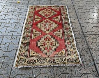vintage rug. oushak rug. hand made rug. home decor. home and lıvıng. home rug. anatolian rug.home rug. small rug 35,4x19,6inc! 2,9x1,6feet!