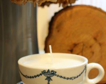 Sunday Morning {Apple Cinnamon Tea Cup Candle}