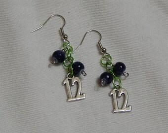 Seattle Seahawks 12 Earrings