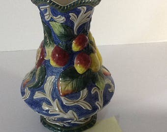 Fitz and Floyd Vintage Florentine Fruit Vase 8 3/4""