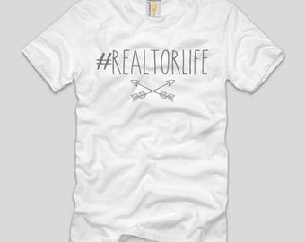 Realtor T Shirts - Hashtag Realtor Life - White - Realtor and Real Estate Agent T Shirt