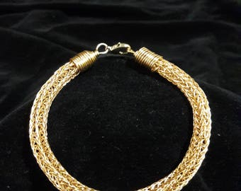 Woven Knit Bracelet Brass