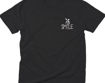 summer shirt, workout shirt, gift for him, palm tree, tumblr shirt, smile, gift for her, gift for girlfriend, gift for boyfriend