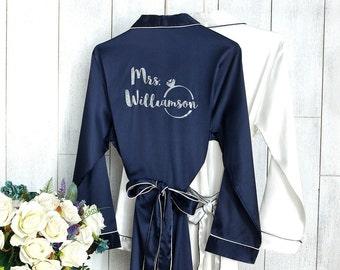 Bridesmaid Robes | Bridal Robe | Set of Bridesmaids Robes| Bride Robe | Bridal Party Robes | Bridesmaid Gifts | Satin Robe | Kimono Robe
