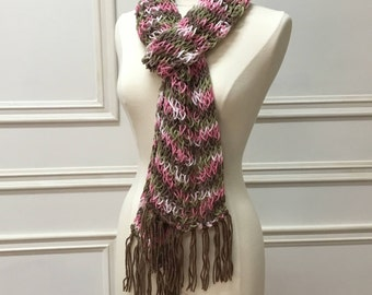 Handmade Woman's Knitted Scarf