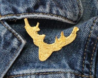 Gold Deer Pin