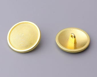 10pcs 23mm round button metal button goal button carved with circles shank button for coats