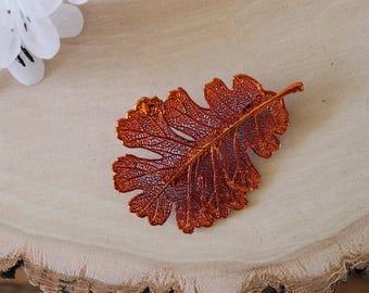Oak Leaf Brooch Silver, Real Leaf Pin, Real Leaf, Lacey Oak Leaf, Leaf Brooch, Silver Leaf, BROOCH61