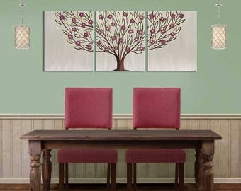 Dining Room Wall Art Painting On Canvas Triptych