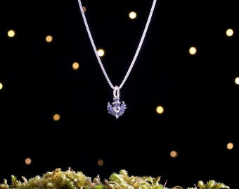Sterling Silver Scottish Thistle - TEENY TINY - (Charm, Necklace, or Earrings)