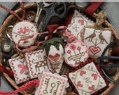 Festive Little Fobs One, Valentine Edition : Cross Stitch Pattern by Heartstring Samplery