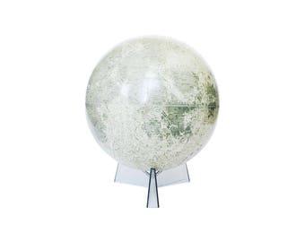 "12"" Mid Century Moon Globe / Rand McNally / Lunar Globe"
