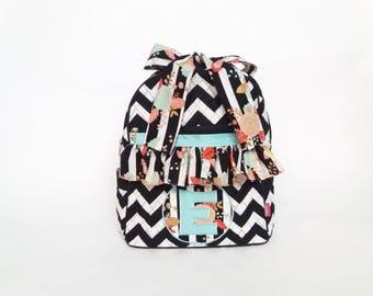 Backpacks, Back to School, Custom Backpack, Embroidered Backpack, Monogrammed Backpack, School Bag, lunch bag, Girls Backpack,Black Backpack