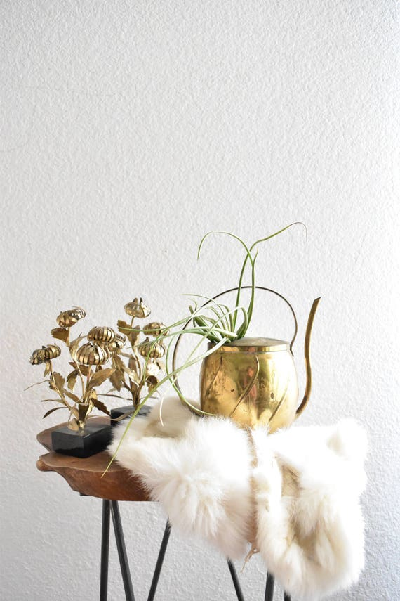 small brass watering can vase / pitcher