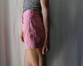SALE // Vintage 1980s Guess Jeans High Waisted Shorts // Pink Denim // 28