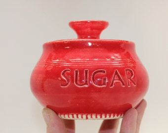 Red Sugar Jar