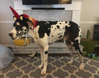 Fancy Unicorn Hat for Dogs, MADE TO ORDER,  Dog Hat, Unicorn Hat, Pony Hat, Pet Costume, Halloween Costume, Pet Dress-Up, Hats for Dogs