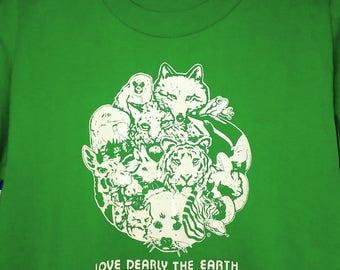 1980's animal rights t-shirt, slim small