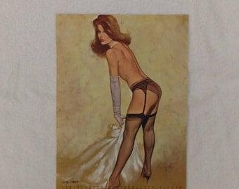 Vintage Pinup Girl Risque Fritz Willis Calendar Page 1967