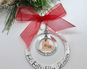 Dated Family Christmas Ornament - Personalized Family Ornament - Christmas Gift Ideas - Housewarming Gifts - The Charmed Wife - Gift Ideas