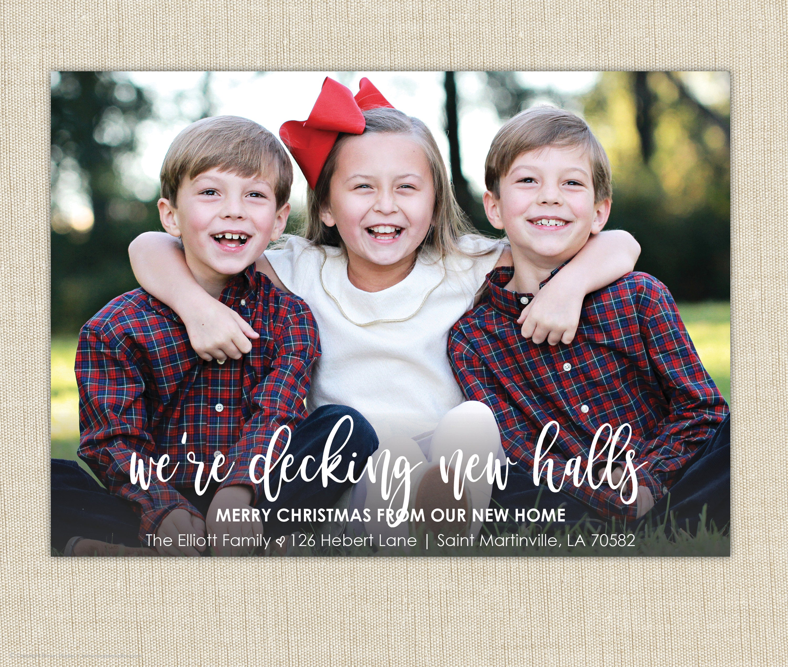 christmas moving announcement we ve moved christmas card we re