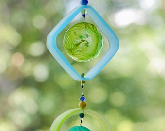 Wine Bottle Sun Catcher