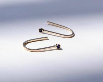 Sapphire Earrings Gold Sapphire Earrings Sapphire Drop Earrings Gold Sapphire Studs