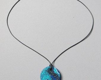 Nebula / Space Jewelry / Galaxy Art / Necklace / 1